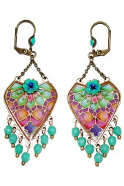 Michal Negrin Multicolor Vitrage Inspired Crystal Beads Earrings
