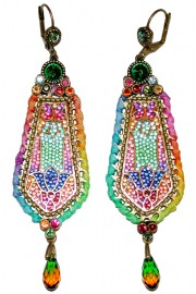 Michal Negrin Multicolor Rainbow Vitrage Inspired Earrings