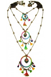 Michal Negrin Multicolor Dream Catcher Necklace