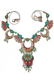 Michal Negrin Multicolor Vitrage Inspired Necklace