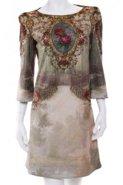 Michal Negrin Baroque Print Dress