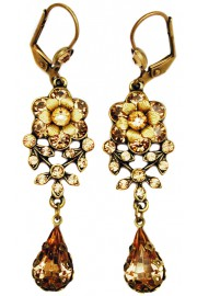 Michal Negrin Gold Tone Teardrop Earrings