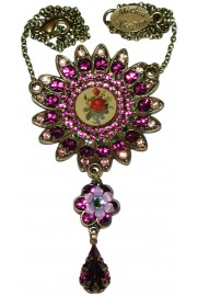 Michal Negrin Purple Rose Sun Necklace