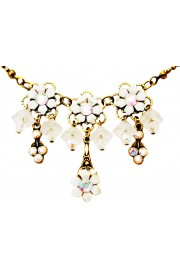 Michal Negrin White Lily Bells Necklace
