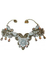 Michal Negrin Silver Tone Rose Garden Necklace
