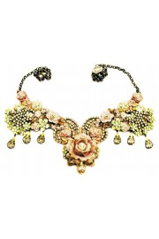 Michal Negrin Yellow Nude Rose Garden Necklace
