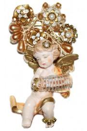 Michal Negrin Baroque Cherub Figurine Brooch