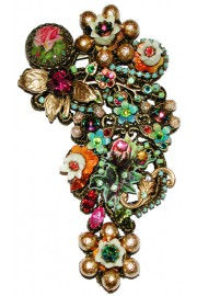 Michal Negrin Antique Embellished Lace Brooch
