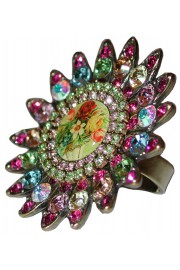 Michal Negrin Multicolor Cameo Sun Ring