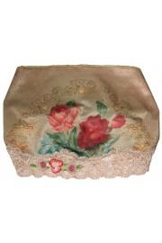Michal Negrin Victorian Roses Print Satin Lace Headband