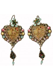 Michal Negrin Muse Pastel Pearl Heart Earrings