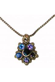 Michal Negrin Blue Delicate Pendant Necklace