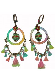 Michal Negrin Multicolor Dream Catcher Earrings