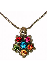 Michal Negrin Multicolor Delicate Pendant Necklace