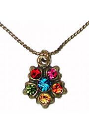 Michal Negrin Multicolor Delicate Pendant Necklace