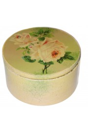 Michal Negrin Vintage Roses Round Jewelry Box