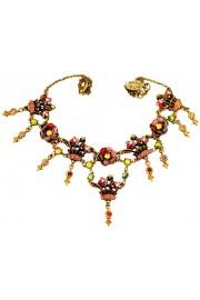 Michal Negrin Purple Pink Antique Bouquet Necklace