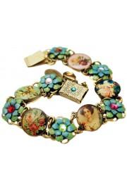 Michal Negrin Multicolor Cameos Floral Bracelet