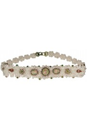 Michal Negrin ivory rose Lace Headband