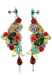Michal Negrin Multicolor Floral Lace Earrings