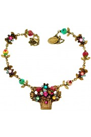 Michal Negrin Multicolor Tiedye Flower Basket Necklace