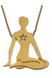 Michal Negrin Gold Plated Yoga Necklace