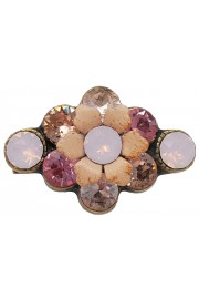 Michal Negrin Pink Peach Small Flower Brooch