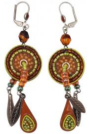 Adaya Tribal Africa Maasai Feathers Earrings