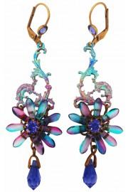 Michal Negrin Purple Tropical Flower Earrings