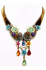 Michal Negrin Multicolor Velvet Drop Necklace