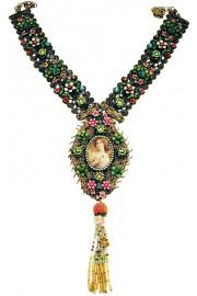 Michal Negrin Antique Medallion Necklace