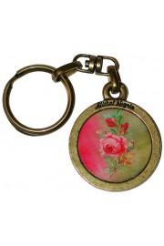 Michal Negrin Rose Round Keychain