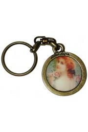 Michal Negrin Lady Rose Round Keychain