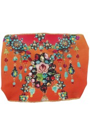 Michal Negrin Orange Floral Print Headband