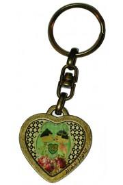 Michal Negrin Dolls Kiss Heart Keychain