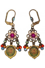 Michal Negrin Multicolor Cherub Cameo Earrings