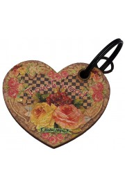 Michal Negrin Heart Notepad Keychain Touch Wood