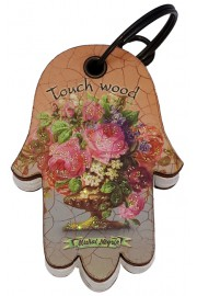 Michal Negrin Hamsa Notepad Keychain Touch Wood