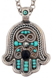 Adaya Mosaic Hamsa Necklace