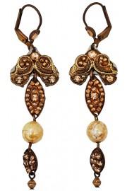 Adaya Gold Tone Beaded Mosaic Earrings