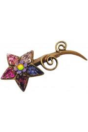Michal Negrin Purple Pink Starflower Brooch