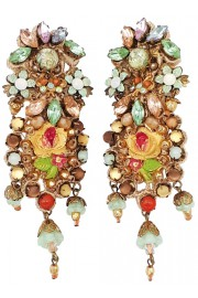 Michal Negrin Romance Lace Clip Earrings