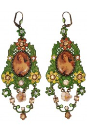 Michal Negrin Victorian Cameo Ornate Earrings
