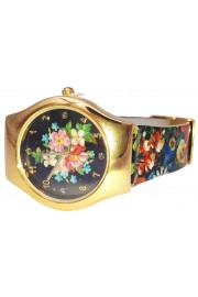 Michal Negrin Multicolor Flowers Wrist Watch