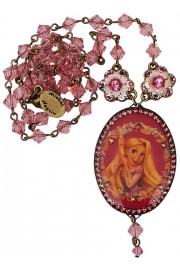 Michal Negrin Pink Rapunzel Cameo Necklace (Exclusive)