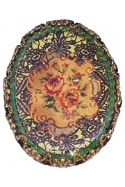 Michal Negrin Antique Rose Cameo Brooch