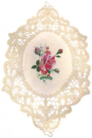 Michal Negrin Rose Crocheted Doily