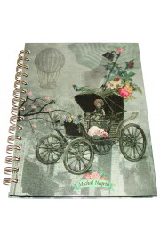Michal Negrin Victorian City Spiral Hardcover Lined Notebook