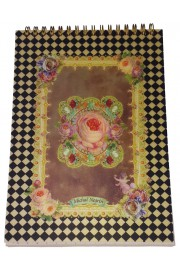 Michal Negrin Roses Patterned Spiral Lined Notebook