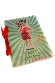 Michal Negrin Retro Girl Lined A6 Paper Notebook